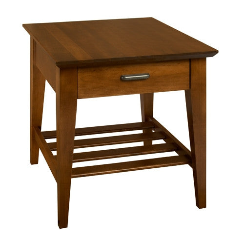 A. A. Laun Arbor Collection End Table With Drawer 7302
