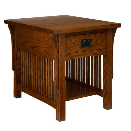 A. A. Laun Arts & Crafts End Table With Drawer 8402