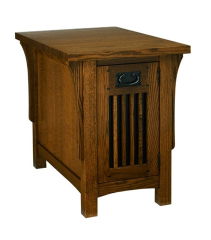 A. A. Laun Arts & Crafts Chairside Table With Door 8406