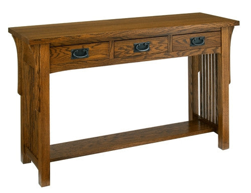 A. A. Laun Arts & Crafts Sofa Table With 3 Drawers 8429