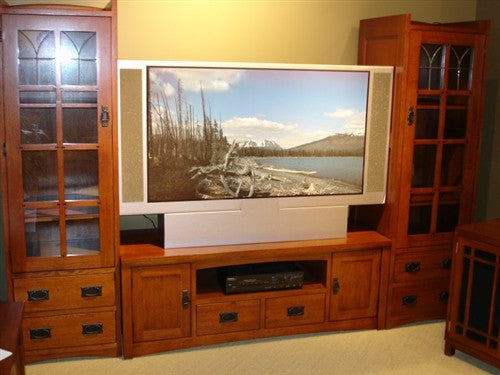 Mission Oak 3pc Entertainment Center AC9116