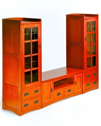 Mission Oak 3pc Entertainment Center Ac9118 3 Northup Gallery