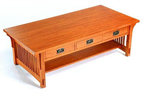 MISSION OAK 3 DRAWER COFFEE TABLE AC9170