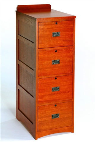 Mission oak 4 Drawer File Cabinet AC9195