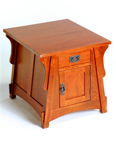 CROFTER BUNGALOW MISSION OAK Drawer End TABLE AC9271