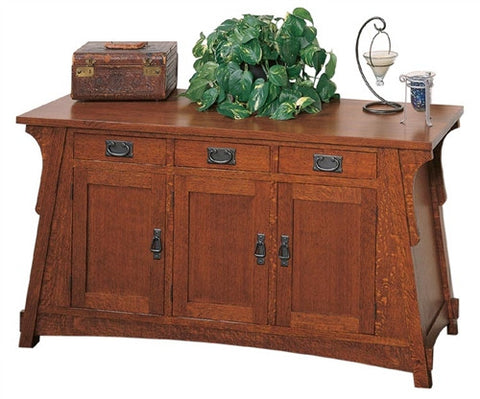 CROFTER BUNGALOW MISSION OAK 3 DRAWER SOFA TABLE AC9275
