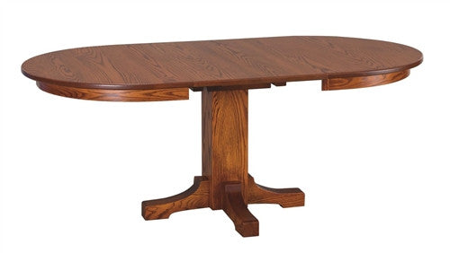 AMISH TRANSITIONAL MISSION OVAL DINING TABLE AM 082