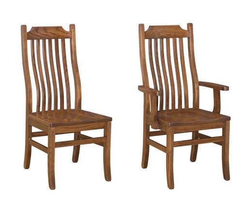 AMISH MADISON MISSION CLASSIC DINING CHAIRS Set of 6 (2 arms, 4 sides) AM 131