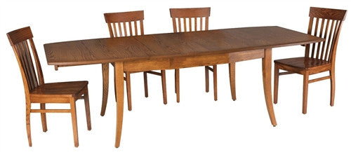AMISH TRANSITIONAL MISSION RECTANGULAR DINING TABLE AM 158