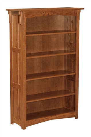 MISSION AMISH 5' OPEN BOOKCASE AM 195