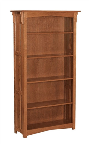 MISSION AMISH 6' OPEN BOOKCASE AM 196