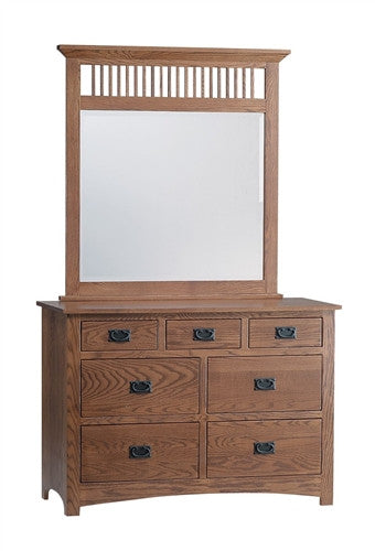 "PIONEER MISSION OAK 48"" DRESSER WITH MIRROR AM 202 / 208"