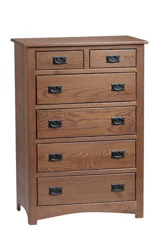 PIONEER MISSION OAK CHEST OF DRAWERS AM 203