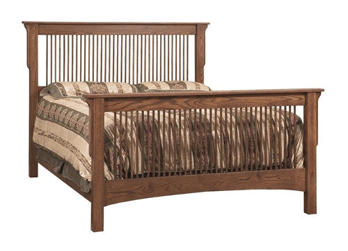 PIONEER MISSION OAK QUEEN BED AM 205