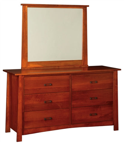 "CRAFTSMAN MISSION 60"" DRESSER WITH MIRROR AM 261 / 268"