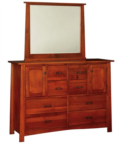 CRAFTSMAN MISSION LARGE DRESSER WITH MIRROR AM 262 / 268