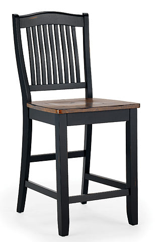 Mastercraft GS Furniture Beaver Creek Ebony Slat Back Stool BC107W24RE
