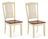 Mastercraft GS Furniture Beaver Creek Buttermilk Slat Back Side Chair BC107WRB