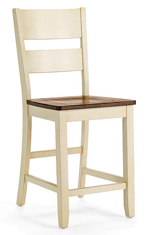 Mastercraft GS Furniture Beaver Creek Buttermilk Ladder Back Stool BC110W24RB