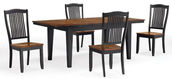 "Mastercraft GS Furniture Beaver Creek Ebony Leg Table with 1 - 18"" Leaf BC2T3878RE"