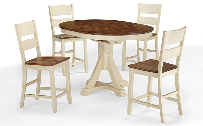Mastercraft GS Furniture Beaver Creek Buttermilk High/Low Pedestal Table BC2T4257RB