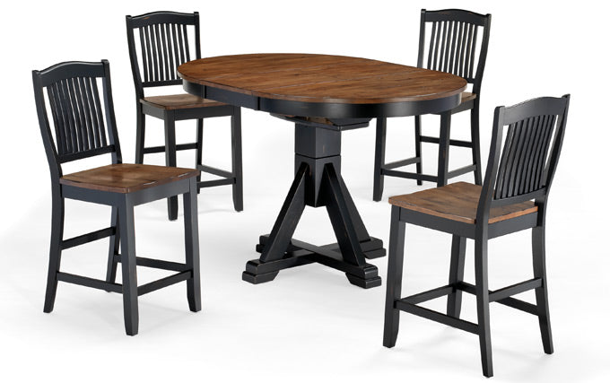 Mastercraft GS Furniture Beaver Creek Ebony High/Low Pedestal Table BC2T4257RE