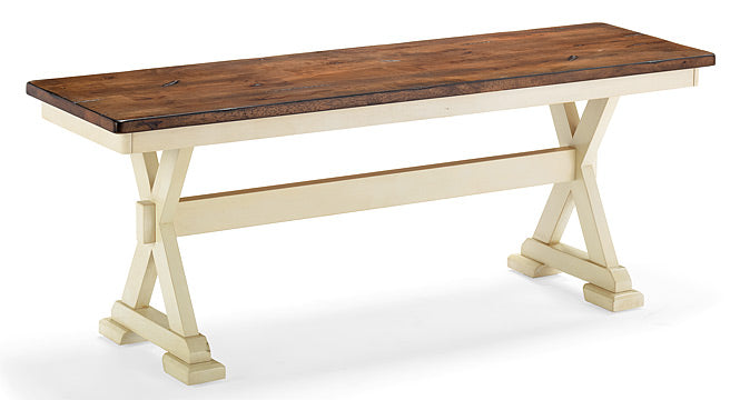 Copy of Mastercraft GS Furniture Beaver Creek Buttermilk Bench BC48BRB