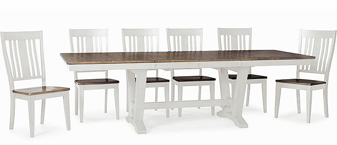 Mastercraft GS Furniture Beach House Light Trestle Table 27402