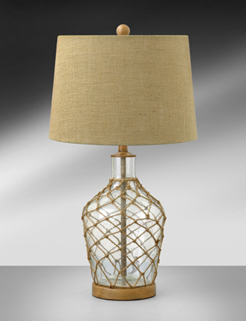 Driftwood Clear Glass with Rope Table Lamp CLS960DTBH