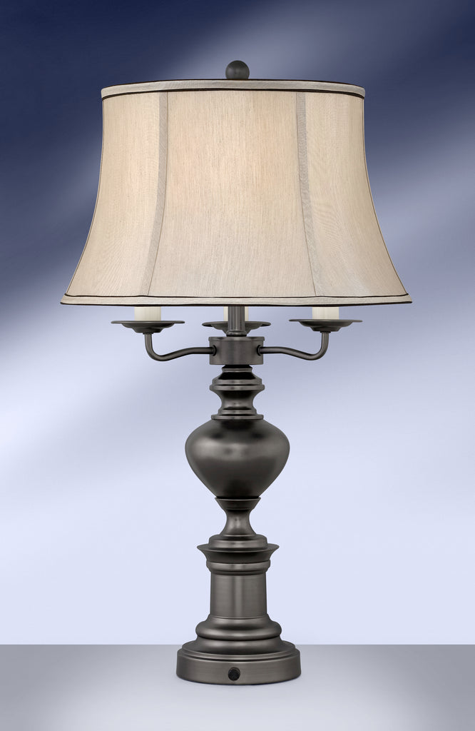 Traditional Gunmetal Steel Night Light Table Lamp DGM984GDB