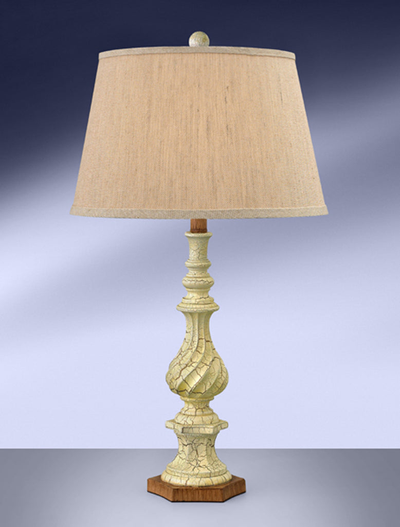 Vanilla Crackle with Copper Table Lamp FV963DDLH
