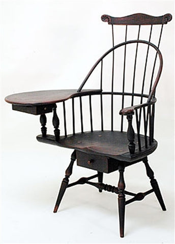 Lawrence Crouse Sack Back Writing Arm Chair
