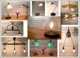 Hand Made  Coated Wire Cage Light Single Edison Bulb Hanging Light
