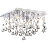 Crystal Drape Flush Mount