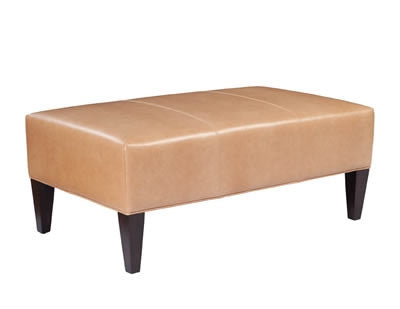 Palatial Leather Dillon Cocktail Ottoman