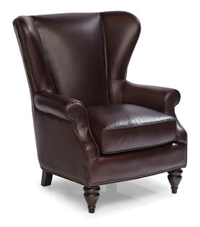 Palatial Leather Lincoln Chair