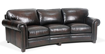 Palatial Leather Hillsboro Angled Sofa
