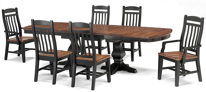 Mastercraft GS Riverside Double Pedestal Table With Leaves RV2T441421BW