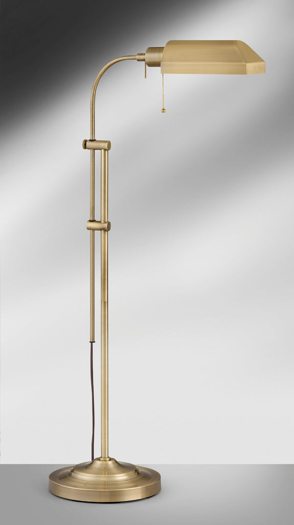 Satin Antique Brass Pharmacy Floor Lamp SAB7703AT