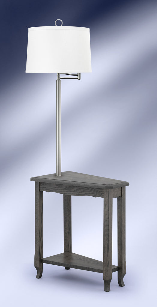 Contemporary Slate Brushed Steel Side Table Floor Lamp SBS6002DWH