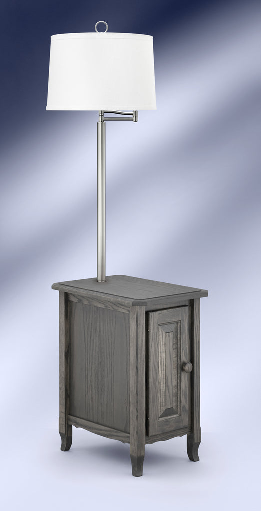 Contemporary Antique Slate Brushed Steel Side Table Floor Lamp SBS6006DWH