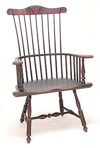 Lawrence Crouse Pennsylvania Windsor Arm Chair with Shell Carving
