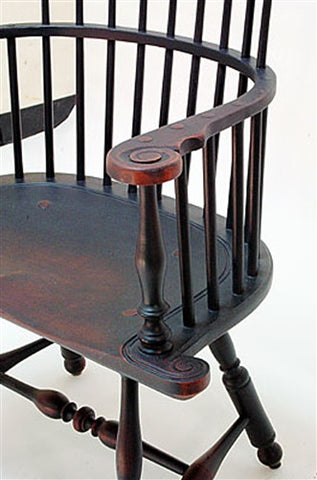... Lawrence Crouse Pennsylvania Windsor Arm Chair With Shell Carving ...