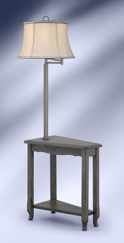 Contemporary Slate Brushed Steel Side Table Floor Lamp SGM6002GDB