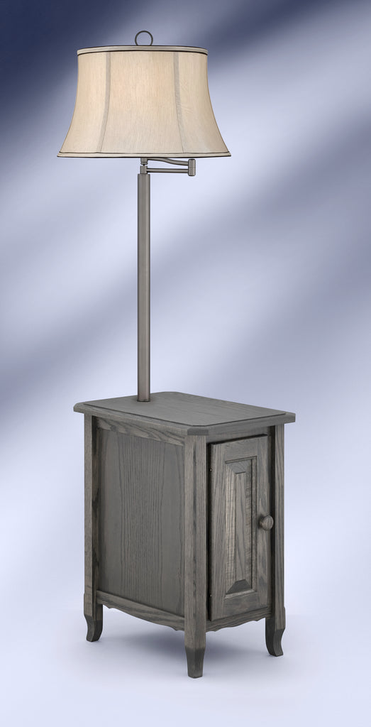 Contemporary Antique Slate Gunmetal Side Table Floor Lamp SGM6006GDB