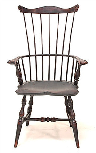 Lawrence Crouse New England or Pennsylvania Fan Back Windsor Arm Chair
