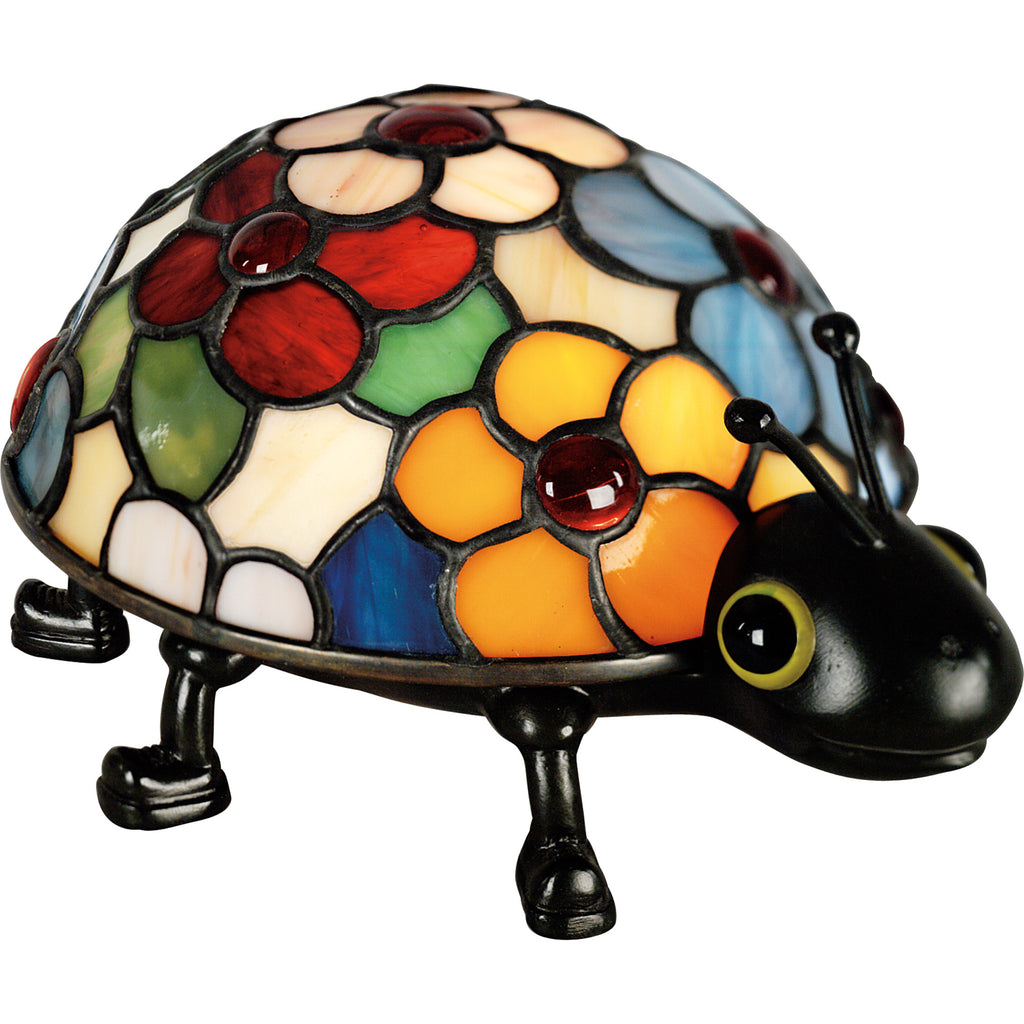 Flowered Ladybug Table Lamp