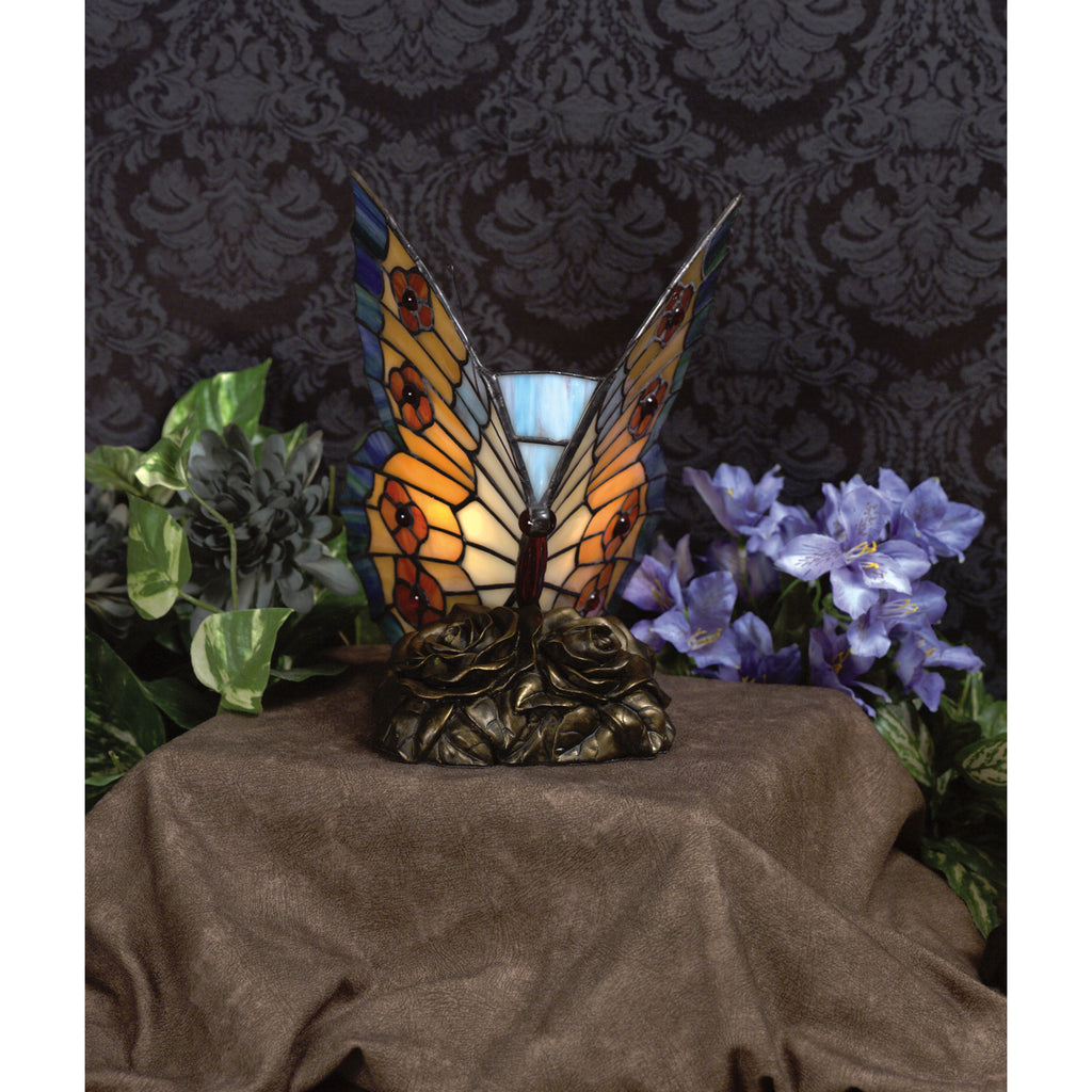 Orange Butterfly Table Lamp