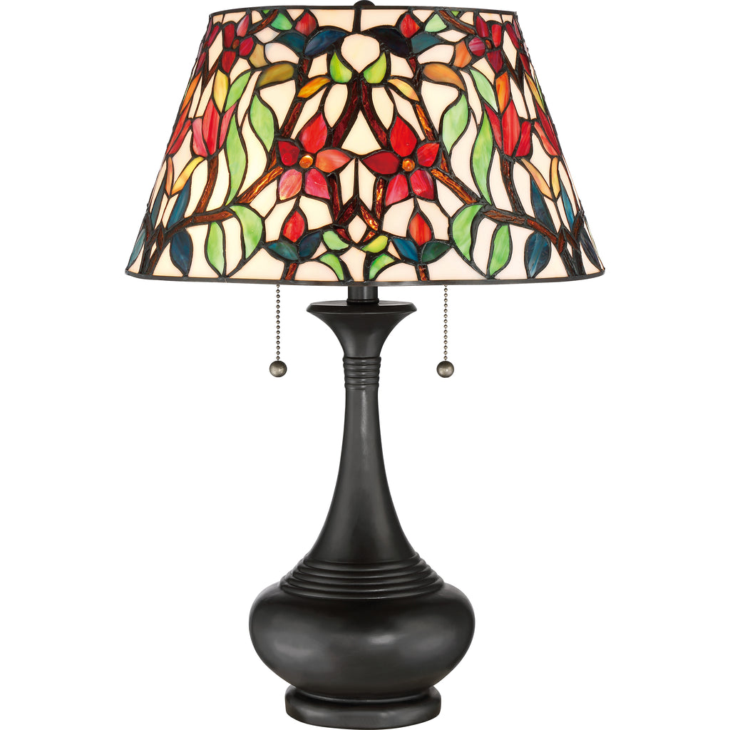Red Blossom Table Lamp