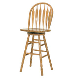 Mastercraft GS Furniture CL102W24S5 Classic Monarch Swivel Stool 24""